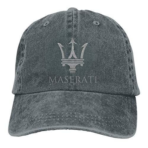 New Customized Maserati Logo Geek Denim Peak Cap for Womens Casquette Black,Sombreros y Gorras