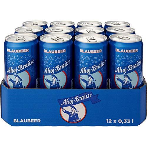 12 Dosen Ahoj-Brause Blaubär a 330ml Ahoj Brause Erfrischungsgetränk inc. EINWEG Pfand