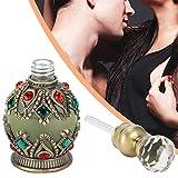Perfume musulmán, estilo clásico galvanizado con incrustaciones de diamantes de imitación de perfume vintage suministros religiosos para refrescar aire