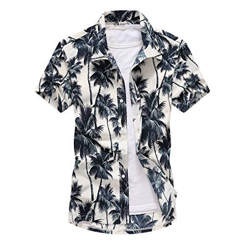 Ocasionales De Los Hombres Camisetas De Manga Corta Top Floral del Verano Camiseta