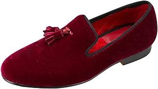 [OCHENTA] メンズシューズ ビロードタッセル 欧米宴会スタイル 靴 軽量 ストレートチップ