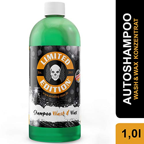 Limited Edition - 1L Autoshampoo - Shampoo - Wash & Wax Konzentrat - Reinigt streifenfrei - versiegelt die Lackoberfläche und bringt besonderen Glanz - Für Auto & Motorrad