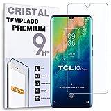 REY Protector de Pantalla para TCL 10 Plus - TCL 10 Pro, Cristal Vidrio Templado Premium