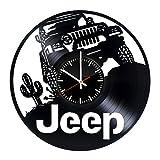 Vinilo reloj Jeep–Discos de Vinilo Pared Arte hecho a mano decoración–Original clásico regalo para hombres y mujeres