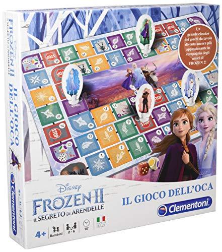 Clementoni- Frozen 2-Gioco dell'oca tavola, Multicolore, 16179