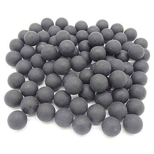AOOHYEO Reusable 068 Caliber Riot Paintballs  100 New ReUsable Rubber Training Elastic Balls Paint Balls