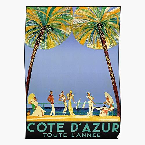 Generic The France Coast Dazur Riviera Ad French Cote Southeastern Vintage Mediterranean Travel Europe Home Decor Wandkunst drucken Poster !