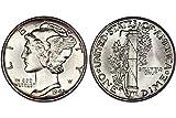 1943 Gem Brilliant Uncirculated Silver Mercury Dime Choice BU