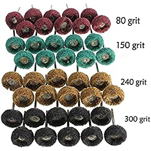 "40Pcs 1"" (25mm) Abrasive Wheel Buffing Polishing Wheel Set For Dremel Rotary Tool"