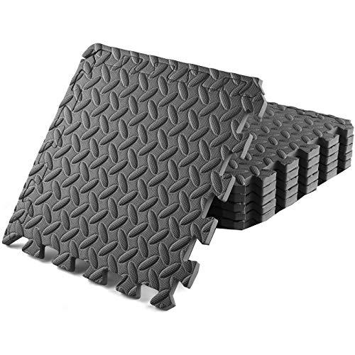 TOUS LES CADEAUX 6 Dalles en Mousse 40x40 cm pour Sport Fitness - Tapis de Protection de Sol pour Sport, Musculation, Gym