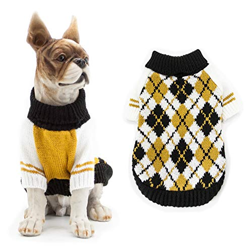 REYOK Suéter para Mascotas, Ropa cálida de Invierno para Perros y Gatos, Abrigo cómodo para Mascotas, Disfraz de Cachorro, Jersey de Gatito, Ropa para Perros pequeños, medianos Grandes, Gatos