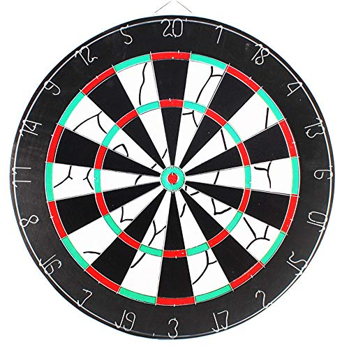 Guohailang Brain Game Durchmesser Dartboard Doppelseitiger Flocked Dartscheibe Set bestehend aus 6 Messing Darts und Cricket Anzeiger Kit - 45 Zentimeter (18 Zoll) spielt mit den Eltern und Freunden