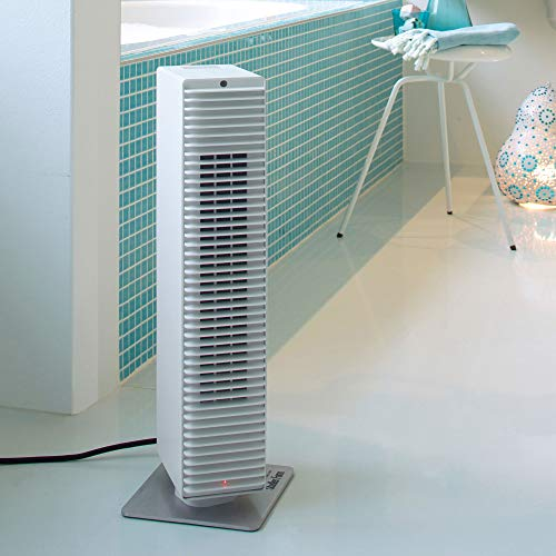 Stadler Form Fan Heater Paul with modern PTC Ceramic Heating Element, Heats and Cools, with 8 Heat Levels, White