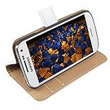 Mumbi - Funda Tipo Libro para Samsung Galaxy S4 Mini, Color Blanco