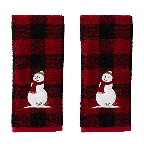 SKL Home by Saturday Knight Ltd. Woodland Winter, Hand Towel Set, Red