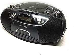Memorex CD/Cassette Recorder Boombox MP3 AM/FM FlexBeats MP3262 with Aux line in jack – Black