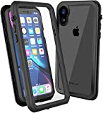 CellEver Compatible with iPhone XR Case, Clear Waterproof Shockproof IP68 Certified SandProof Snowproof Full Body Protective Clear Transparent Cover Designed for iPhone XR 6.1 inch (2018) - KZ Coral
