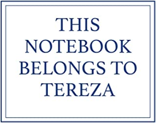 This Notebook Belongs to Tereza