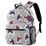 Mochila con diseño de osos y bufandas para adolescentes, mochila de viaje, informal