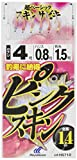 ハヤブサ(Hayabusa) これ一番 ピンクスキンサビキ 6本鈎 4-0.8 HS710-4-0.8