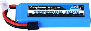YOWOO 3S Graphene Battery 4000mAh 100C 11.1V Lipo Batteries with Traxxas Plug for Traxxas RC Car Truck Quadcopter Drone Helicopter Align Trex 500 550E 600 Gaui (5.35x1.65x0.96inch, 0.80Ib)