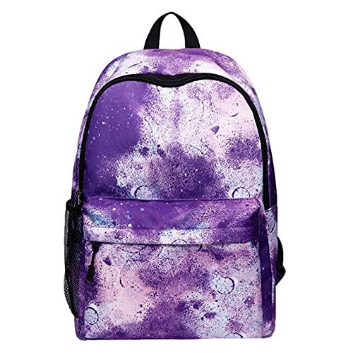 Mochila escolar Galaxy   impermeable  de viaje de lona unisex con estilo para estudiantes