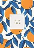 2019 2020: Agenda 2019-2020 semana vista | Julio 2019 a Diciembre 2020 | Agenda semanal y mensual | diseño hojas de naranjo