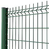 Amagabeli Grillage clôture Rigide soudé Kit de 20m Hauteur 1530mm avec Panneau Rigide et Piquets de clôture Galvanisée Enduit EP Utilisation pour Les Jardins Maisons Fermes Vert RAL6005