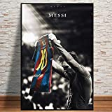 Fußball-Sport Star Lionel Messi Retro Poster