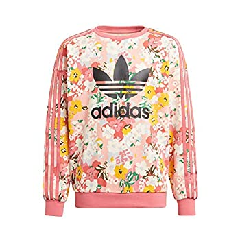 adidas Yg Crew Sweat pour Fille, Garçon, Pull-Over, GN4217, Trace Pink/Multicolor/Black, 13 Anni