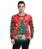Ugly Weihnachtspullover LED Licht Sweater