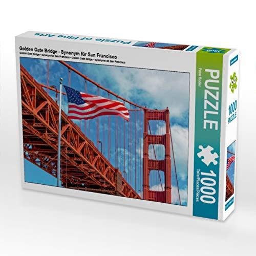 CALVENDO Puzzle Golden Gate Bridge - Synonym für San Francisco 1000 Teile Lege-Größe 64 x 48 cm Foto-Puzzle Bild von Peter Roder