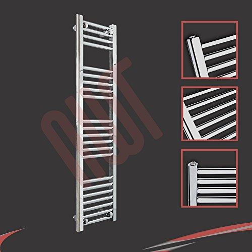 300 mm (w) x 1200 mm (h) - Piso Radiador toallero cromado horizontal Diámetro: 22 mm, Bar Modelo: 4 + 5 + 6 + 7