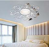 European Mirror sticker for ceilling decoration, DIY Top ceilling mirror wall sticker , top lighting the ceiling Chandelier around decorative mirror frame sticker