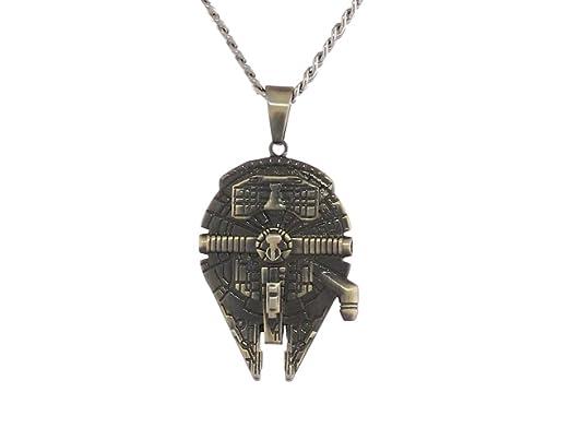 Fine  Pure 999 silver Millennium Falcon inspired Star Wars pendant
