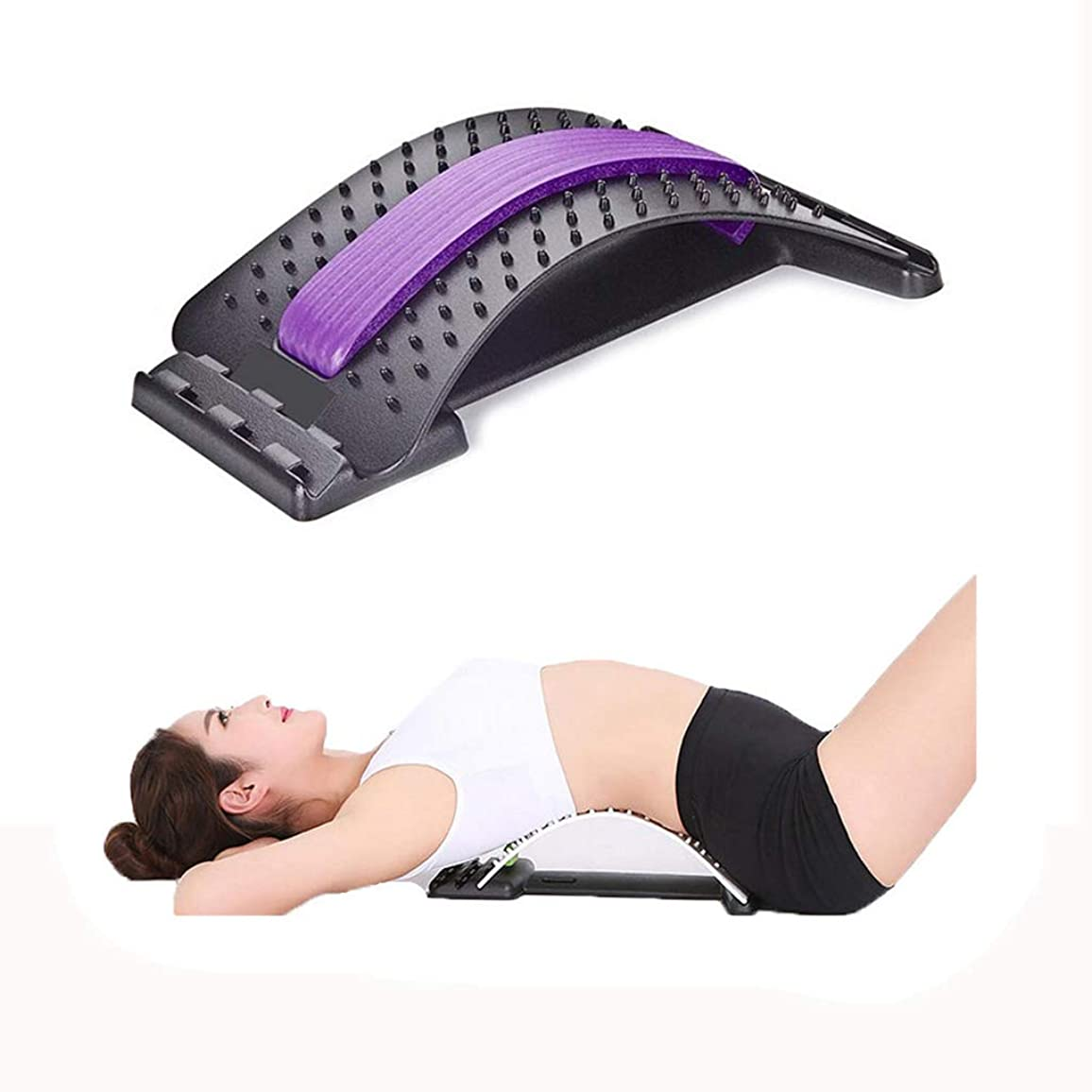 エキスパート保全ベースストレッチ装置背中マッサージ器マジック伸縮器フィットネス腰椎サポートリラクゼーション脊柱痛緩和 (色 : C)