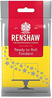 Ready to Roll Fondant Icing Yellow 8.8 Ounces by Renshaw