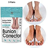 Orionis Bunion Protector with Toe Separator | Sports Bunion Pad and Toe Spacer, 2 Loop Toe Straighteners -...
