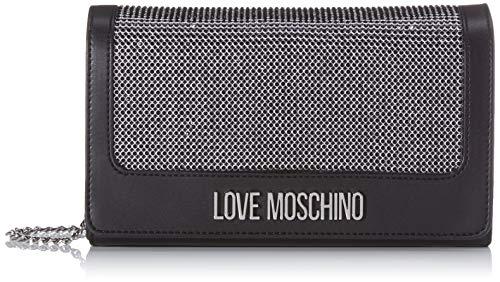 Love Moschino Jc4055pp1a, Borsa a Mano Donna, Nero (Nero), 6x13x23 cm...