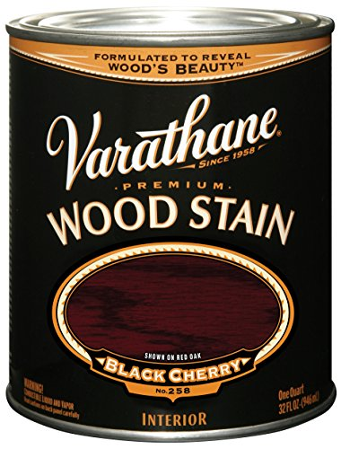 Varathane 241411H Premium Wood Stain, Quart, Black Cherry