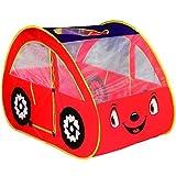 Dominiti Spielzelt Auto in Rot 28192, 131 x 75 x 81 cm, POP-UP Kinderzelt für drinnen und draußen,...