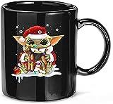 N\A Bebé Divertido #Yoda Hug Airedale Terrier Perro Navidad Cerámica Regalo Tazas Divertidas Tazas