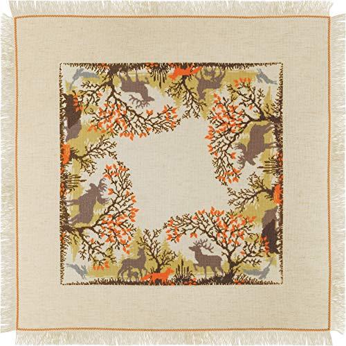 Riolis 1739 - Kit para punto de cruz (algodón, 7272 cm), diseño de animales del bosque