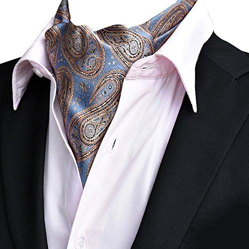 YCHENG Ascotkrawatte Gemustertes Quadratische Herren Bandana Tuch Halstuch Ascot Krawatte Braun 118 * 16 * 5.5cm