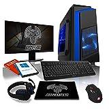 AWD-IT Ensemble Gaming PC - Processeur AMD A10 9700 à 4 cœurs • Écran LED 22'...