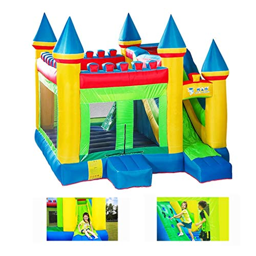 Opblaasbaar kasteel Opblaasbare trampoline Children's Outdoor grote speeltuin Commercial Children's Naughty Castle Kindergarten grote glijbaan Children's Best Toys (Size : 380x410x410cm)