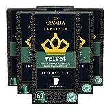 Gevalia Nespresso Compatible Capsules, Velvet Espresso Pods for Nespresso OriginalLine Brewer, 10 ct. Box (Pack of 6)