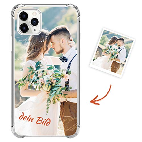 Suhctup Personalisierte Handyhülle für Samsung Galaxy S20 FE, Individuelle Ihr Eigenes Fotohülle Case mit Eigenem Foto | Text | Logo, Vier Ecke Kante Stoßdämpfung Design Kratzfest Schutzhülle
