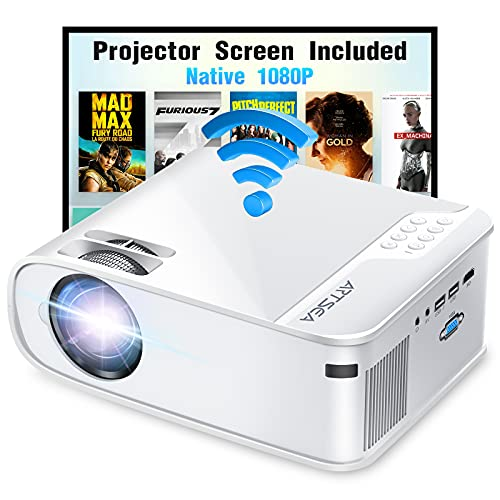 ARTSEA 5G WiFi Projector for iPhone, Native 1080P...