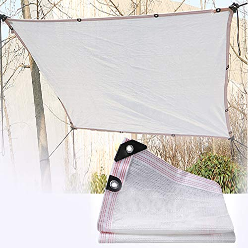 Sun Shade Sail Garden White Rectangle 90% UV Block Shelter Awning for Gazebo Canopy Pergola Patio Outdoor Indoor ALGFree (Color : White, Size : 4x4m)